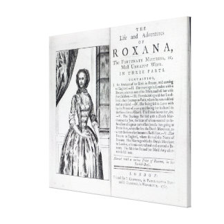 Frontispiece to 'Roxana, The Fortunate Canvas Print