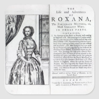 Frontispiece to 'Roxana, The Fortunate Square Sticker