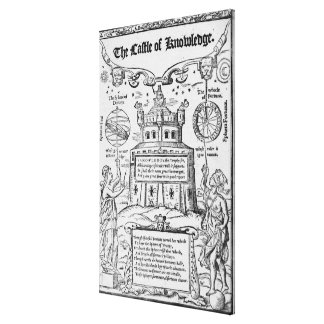 Frontispiece to 'The Castle of Knowledge' Canvas Print