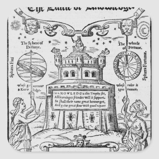 Frontispiece to 'The Castle of Knowledge' Square Sticker