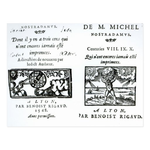 Frontispiece to 'The Prophecies Postcards