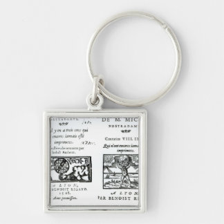 Frontispiece to 'The Prophecies Silver-Colored Square Key Ring
