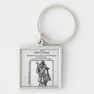 Frontispiece to 'The Roaring Girle' Silver-Colored Square Key Ring