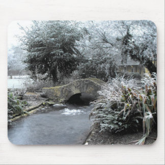 Frost and ice in a Somerset garden Mouse Pad
