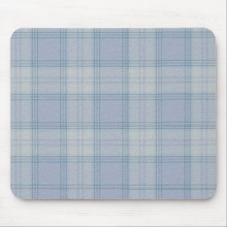 Frost Blue Tartan Mouse Pad