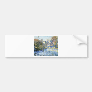 Frost by Claude Monet Bumper Sticker