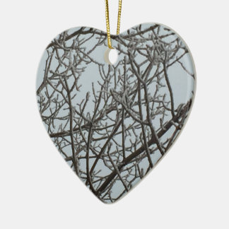 Frost Ceramic Heart Decoration