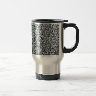 frost closeup on car window coffee mug