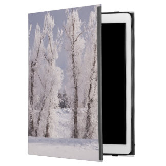"""Frost Covered Trees and Fence, Colorado iPad Pro 12.9"""" Case"""
