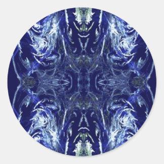 Frost Demon Round Sticker