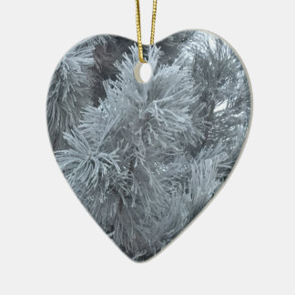 Frost Explosions Ceramic Heart Decoration