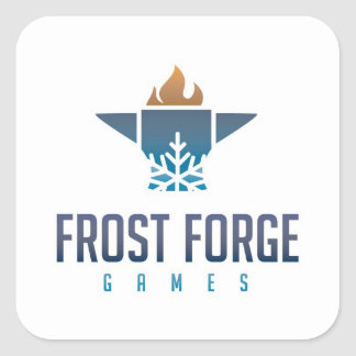 Frost Forge Games Square Sticker