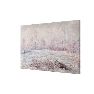 Frost near Vetheuil, 1880 Canvas Print