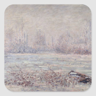 Frost near Vetheuil, 1880 Square Sticker