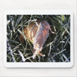 Frost on a leaf mouse pad