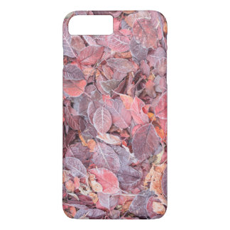 Frost on fallen leaves, Fall colors, Mill Creek iPhone 8 Plus/7 Plus Case