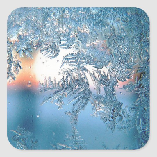 Frost On Glass Square Sticker