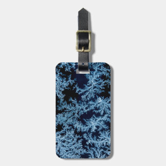 Frost patterns close-up, California Luggage Tag