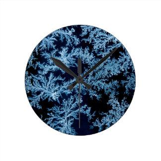 Frost patterns close-up, California Wallclock