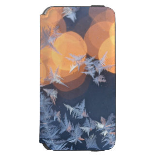 Frost patterns on window with bokeh twinkle incipio watson™ iPhone 6 wallet case