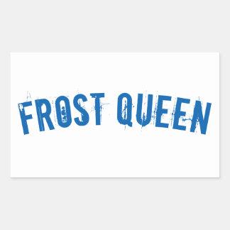 Frost queen rectangular sticker