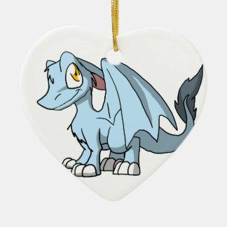 Frost SD Furry Dragon Ceramic Heart Decoration