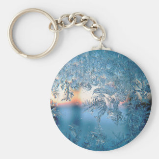 Frost series basic round button key ring