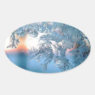 Frost series oval sticker