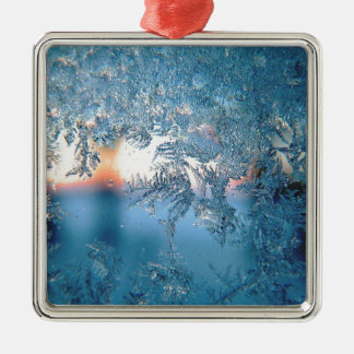 Frost series Silver-Colored square decoration