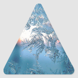 Frost series triangle sticker