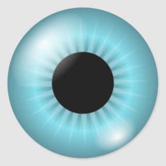 Frost Teal Blue Eye Classic Round Sticker