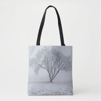 Frost Upon A Lonely Tree Tote Bag