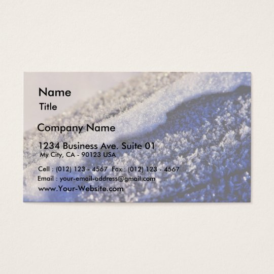 Frost Winter Ice Business Card