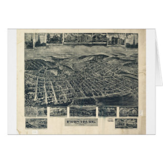 Frostburg, Maryland in 1905 Greeting Card