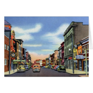 Frostburg Maryland Main Street Greeting Card
