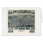 Frostburg, MD Panoramic Map - 1905 Greeting Cards