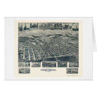 Frostburg MD Panoramic Map - 1905 Greeting Cards