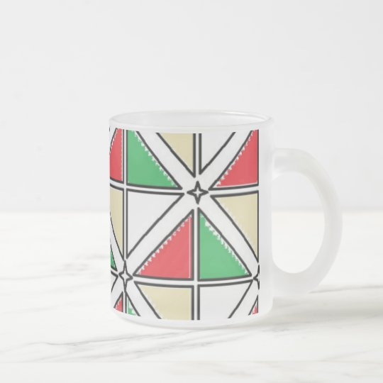 Frosted 10 oz Frosted Glass Mug art by J Shao