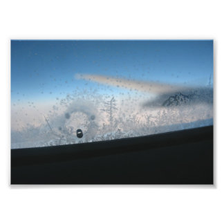 Frosted Airplane Window Photo Print