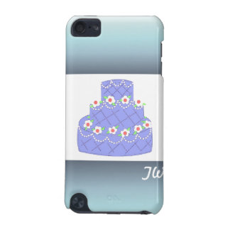 Frosted Baby Blue Wedding Cake iPod Touch (5th Generation) Covers