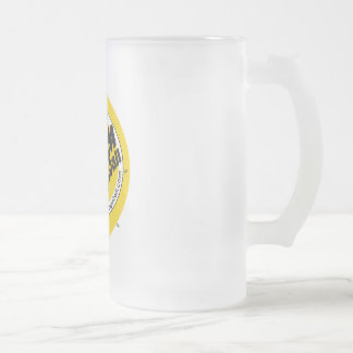 Frosted Beer Mug - Dodgeball Logo