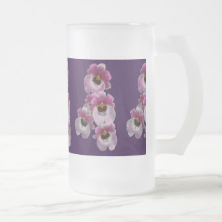 Frosted Beer Mug - Pansy Orchid