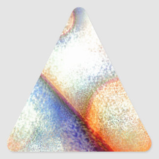 Frosted Blue and Orange Abstract Triangle Sticker