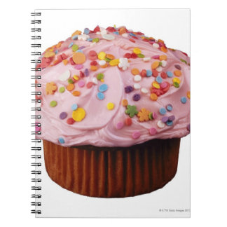 Frosted cupcake with sprinkles notebooks