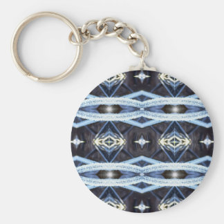 Frosted Diamond Pattern Basic Round Button Key Ring