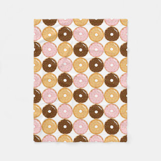 Frosted Donut Pattern Fleece Blanket