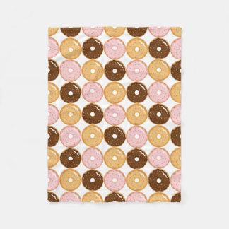 Frosted Donut Pattern Fleece Blanket