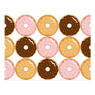 Frosted Donut Pattern Postcard