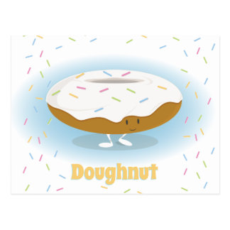 Frosted Donut with Sprinkles   Postcard