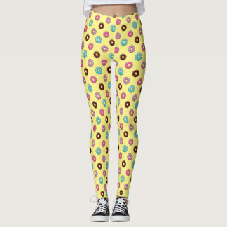 Frosted Donuts | Any Color Background Leggings